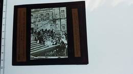 NAPOLEON III ET SA FAMILLE FONTAINEBLEAU 1860 PLAQUE DE VERRE 8,5 X 10 Cm BRAUN PARIS /FREE SHIPPING REGISTERED - Diapositivas De Vidrio