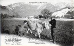 - A2 -65 - BAGNERES-DE-BIGORRE- Traite D' Une Vache - Animée - Bagneres De Bigorre