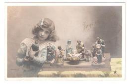 CP : Fille Crèche Statue - Stebbing Phot - étoile Série N°0101 - Other