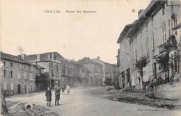 Haute-Vienne CHALUS.- Place Du Marché 1940 Cachet Militaire Au Verso - Chalus