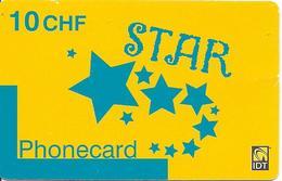 CARTE-PREPAYEE-SUISSE-IDT-10CHF-STAR-09/2008 -TBE- - Schweiz