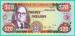 20 Dollars - Jamaïque - 1.2.95 - N° JR 900292 - Neuf - - Jamaica