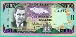 100 Dollars - Jamaïque - 1.3.1994- N° GJ944510 - Neuf - - Jamaique