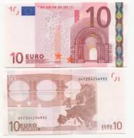 BILLET DE 10EUROS  U Imp  L 040 G 2  Charge20  UNC  JC T - EURO