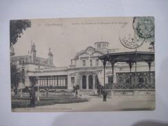 CPA CHERBOURG-Jardin Du Casino Et Le Kiosque De La Musique 19.. T.B.E. Parfait état. - Cherbourg