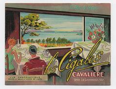 Rare Diorama Tourisme  CAVALIERE Le Lavandou  VAR - Hôtel Les Cigales - Publicités