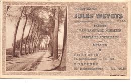 Visitekaartje - Inrichtingen Sanitaire Meubelen Toestellen - Jules Weudts - Kortrijk - Oostende - Cartes De Visite