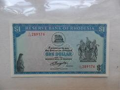 BANKNOTE: RHODESIA 1 DOLAR    KM#38    2 /AGOSTO /1979   ESTADOS : BC - Rhodesia