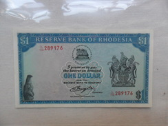 BANKNOTE: RHODESIA 1 DOLAR    KM#38    2 /AGOSTO /1979   ESTADOS : BC - Rhodésie