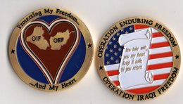 Militaria - Guerre D'Irak - Operation Iraqi Freedom - Pièce De Collection Sous Capsule - Estados Unidos