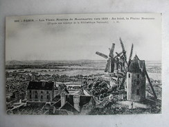 TABLEAUX - Paris Montmartre - Les Vieux Moulins De Montmartre Vers 1850 - Au Fond, La Plaine Monceau - Pittura & Quadri