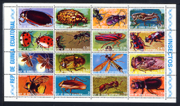 GUINEE EQUATORIALE EQUATORIAL GUINEA 1978, INSECTES, 16 Valeurs, Neufs / Mint. R245 - Insekten