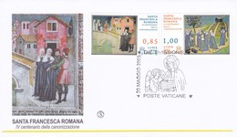 Vatikan, 2009, 400. Jahrestag Der Heiligsprechung Der Franziska Von Rom. Mi: 1640 + 1641 - FDC