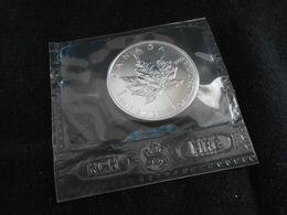 "Canada 5$ Dollar ""Maple Leaf"" 1991  1Oz (Unze) Silber  In Folie  - Stempelglanz - Canada"