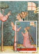 Umm Al Qiwain 1972 Dante Virgilio Divina Commedia Paradiso  Miniatura Illustrazione Fg. 4 - Scrittori