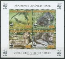 Elfenbeinküste 2005 WWF Naturschutz Otter Block 63 A Postfrisch (C23776) - Côte D'Ivoire (1960-...)