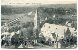 -  51 - ESNEUX - L'Eglise Et  Le Plateau  De Beaumont, Cliché Peu Courant, écrite, 1910, Pour Bruxelles, TBE, Scans. - Esneux