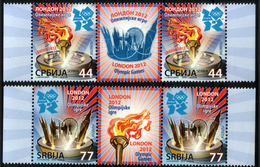 Serbia 2012 Summer Olympic Games London, Sport, Tourch, Middle Row MNH