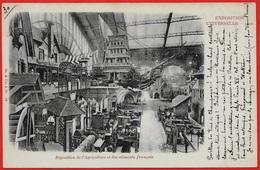 Rare CPA 75 PARIS EXPOSITION UNIVERSELLE De 1900 Exposition De L'Agriculture Et Des Aliments Français (proue Voilier !) - Expositions