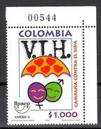 Colombia 2000 VIH CAMPAÑA CONTRA EL SIDA - HIV SIDA - UPAEP - Kolumbien