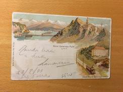 CARTOLINA POSTALE-MONTE-GENEROSO-VETTA-24-7-1899 - 1882-1906 Stemmi, Helvetia Verticalmente & UPU