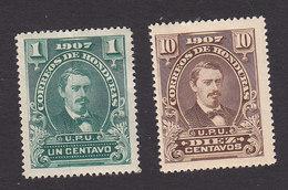 Honduras, Scott #119, 123, Mint Hinged, President Jose Medina, Issued 1907 - Honduras