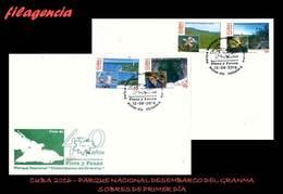 AMERICA. CUBA SPD-FDC. 2016 PARQUE NACIONAL DESEMBARCO DEL GRANMA. FLORA & FAUNA - FDC