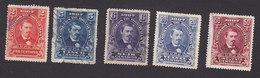 Honduras, Scott #120-122, 124-125, Used, President Jose Medina, Issued 1907 - Honduras