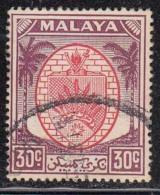 30c Negri Sembilan Used 1949 Series, 1955, Definitive, Malaya, - Negri Sembilan