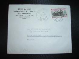 LETTRE TP LOCOMOTIVE A VAPEUR MIKADO 40F OBL.14 1 71 POINTE-NOIRE DEPART + TRAIN - Congo - Brazzaville
