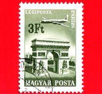 UNGHERIA - Usato - 1966 - Aereo Su Città Servite Dalla Compagnia Ungherese - Parigi - 30 P. Aerea - Posta Aerea