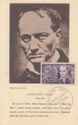 Carte  Maximum  1er  Jour   FRANCE   Charles   BAUDELAIRE   1951 - 1950-59