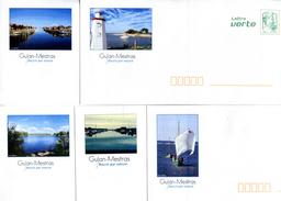 Lot De 5 PAP Neufs Gujan Mestras 33  Gironde- Theme Mer, Bateau à Voile Traditionnelle, Pinasse , Phare - Ganzsachen