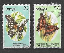 YT 417 & 422 (o) - Papillons - Kenya (1963-...)
