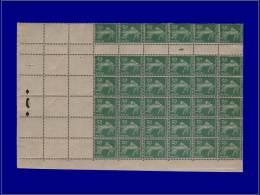 """Qualité: X – 137, Grand Bloc De 36, Bas De Feuille De Roulette Avec Millésime """"4"""" + 3... - Stamps"""