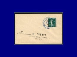 "137, Enveloppe Cad. Bleu ""Nice Aviation Meeeting 1910"". 25/10. - Stamps"