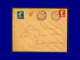 """137, Ayant Servi De Timbre Taxe Avec Surcharge """"T"""" Dans Un Triangle (11/1/17). - Stamps"""