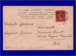 135, Cp, Cachet Type Bouchon 7 Lignes, (jour De L'an). - Stamps