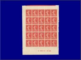 Qualité: XX – 135, Type II, Exceptionnel Panneau De 25 Non Dentelé Avec Date (G 29010 25),... - Stamps