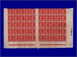 Qualité: (X) – 134, Feuille De 50, Sans Millésime: 10c. Rouge Semeuse. - Stamps