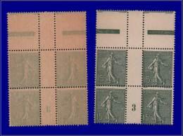 """Qualité: XX – 130, Bloc De 4, Recto-verso, Millésime """"3"""": 15c. Lignée. Cat Price €:... - Stamps"""