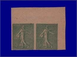 Qualité: XX – 130, Type IV, Paire Non Dentelée, Cdf, Signé Brun: 15c. Lignée. Cat... - Stamps