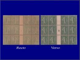 """Qualité: XX – 130, Bloc De 12, Recto-verso, Millésime """"3"""": 15c. Lignée. Cat Price... - Stamps"""