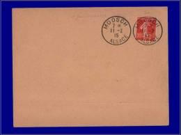 """130, Enveloppe, Cad. """"Mossch - Alsace 11/2/15"""". (1er Jour). - Stamps"""
