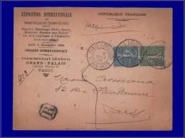"""130 + 2, Sur Enveloppe Officielle, Cad. Temporaire:""""Expo Des Beaux Arts 9/11/04 - Paris"""". - Stamps"""