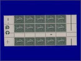 """Qualité: XX – 130, Bloc De 15 Millésime """"8"""", Avec Manchette GC Blanc: 15c. Lignée. Cat... - Stamps"""