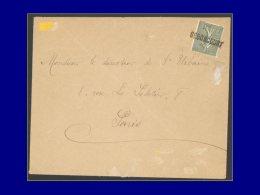 """130, Sur Enveloppe, Oblitération De Fortune, Griffe 1 Ligne """"Seboncourt"""" (1918). - Stamps"""