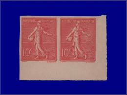 Qualité: (X) – 129, Paire Non Dentelée, Cdf: 10c. Rose. Cat Price €: 460 - Stamps