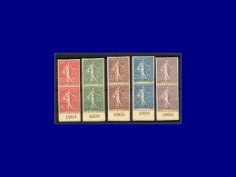 Qualité: (X) – 129/33, En Paires Verticales Tirage Sur Bristol Avec Dentelure Figurée, Toutes... - Stamps