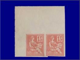 Qualité: (X) – 117 C, Paire Non Dentelée, Cdf: 15c. Mouchon. Cat Price €: 550 - Stamps